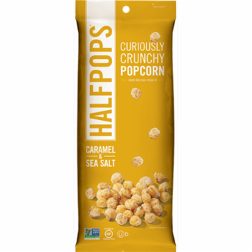 Halfpops Caramel & Sea Salt Popcorn, 1.4 oz, (Pack of 8)