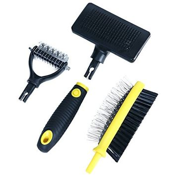 FurBuddy Pet Grooming Brush Kit for Any Type of Dog or Cat - All in One Kit Eliminates Mats & Hairballs