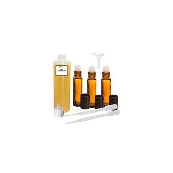 Grand Parfums Perfume Oil Set - Acqua Di Gioia Women Type - Our Interpretation, with Roll On Bottles and Tools to Fill Them (2 Oz)