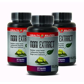 Pure noni Extract - NONI 8:1 Concentrate 500MG - Smooth Skin [3 Bottles]