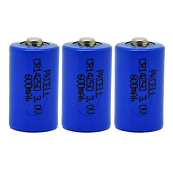 1/2AA CR14250 600mAh 3.0V Lithium Manganese Battery 3PCS [3PC-CR14250]