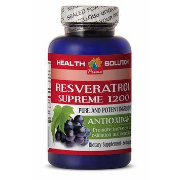 Resveratrol and moringa - RESVERATROL SUPREME 1200MG - slow the signs of aging (1 Bottle)