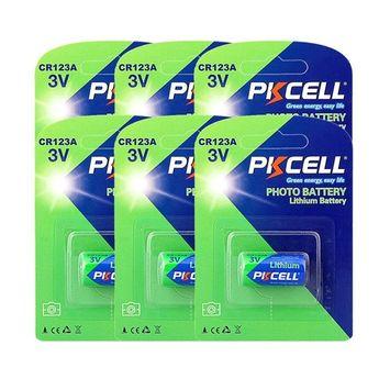 3V 1500mAh Lithium CR123A Batteries for Camera, Flashlight
