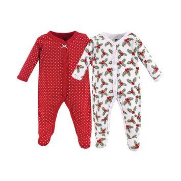 Hudson Baby Cotton Union Suit, 2-Pack, 0-9 Months