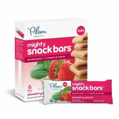 Plum Organics Tots Mighty 4 Cereal Bars Strawberry Spinach (Pack of 24)