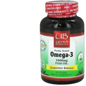 Ultra Botanicals - Omega-3 Fish Oil 1000 mg. - 90 Softgels