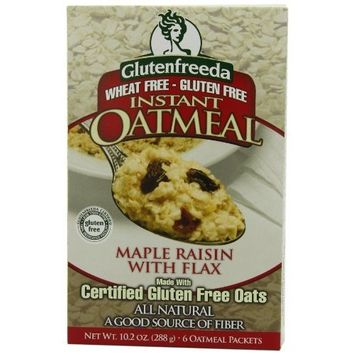 Glutenfreeda's Instant Oatmeal, Maple Raisin, 6-Count Packets 10.2 oz. ( 288g). (Pack of 8)