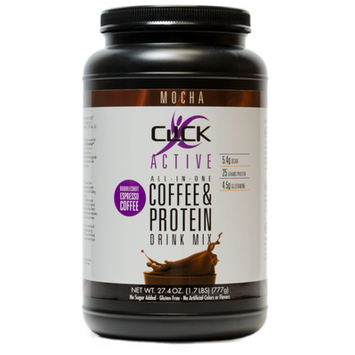 Click Active Coffee Protein Drink Mix, Mocha, 1.7 Lb