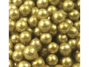 Beulah's Candyland Gold Dragees Gold Balls Bakery Topping Sprinkles 8 ounces