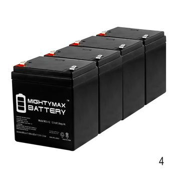 12V 5AH Electric Scooter Battery for 4.5ah Razor W13110050003 - 4 Pack
