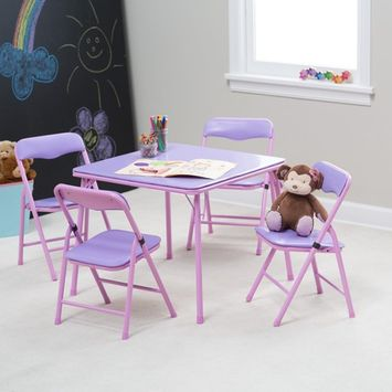 Showtime Childrens Folding Table and Chair Set [component_options: component_options-tablewith4chairs]