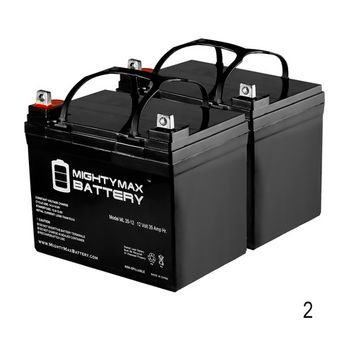 ML35-12 - 12V 35AH Invacare Pronto M41 Wheelchair Battery Replacement - 2 Pack