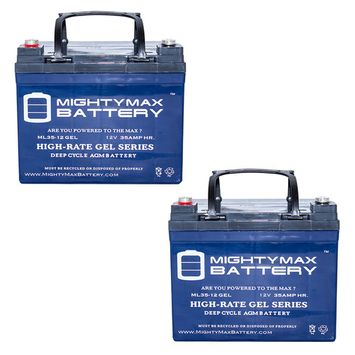 12V 35AH GEL Battery for U1 One New Wheelchair Deep Cycle - 2 Pack