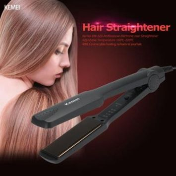 Kemei KM-329 Professional Electronic Hair Straightener Portable Ceramic Flat Straightening Styling Tools