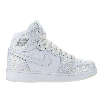 Kids Air Jordan 1 Retro High Premium GS Heiress Frost White Pure Plati