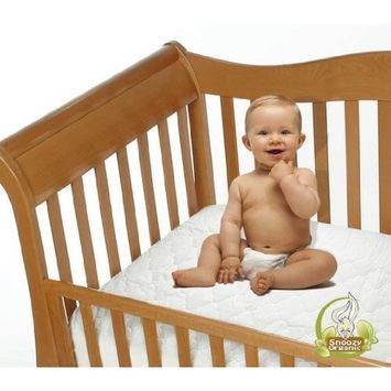 Snoozy Cotton Waterproof Crib Mattress Pad Featuring Safety Stay on Corners, 28