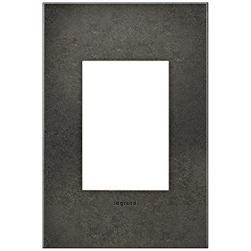 Adorne 1-Gang 3-Module Dark Burnished Pewter Wall Plate