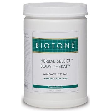 Biotone Herbal Select Body Therapy Massage Creme, 64 Ounce