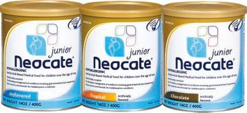 Neocate Junior Pediatric Nutrition Chocolate Powder 14 oz. Can 10 Pack