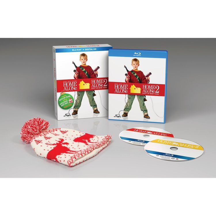 Home Alone 25th Anniversary Edition (Blu-ray) (Gift W/ Knit Hat from film) - Target Exclusive