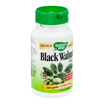 Nature's Way Black Walnut Hulls 500mg Capsules - 100 CT