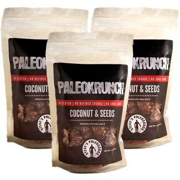 Steve's PaleoGoods, PaleoKrunch Cereal Nut-Free Coconut & Seeds Chocolate Sea Salt, 7.5oz