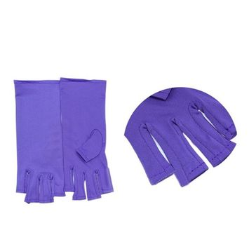 DZT1968 New widely used Nail Art Manicure Anti UV protect Glove for UV Light / Lamp Radiatio