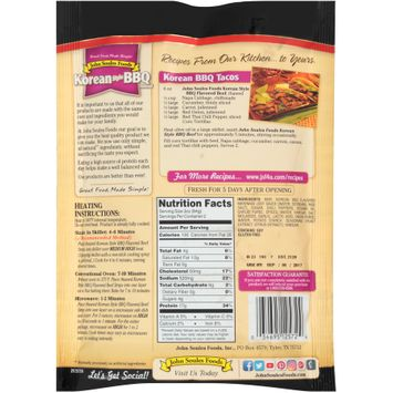 john soules foods® korean style bbq flavored thinly sliced beef strips