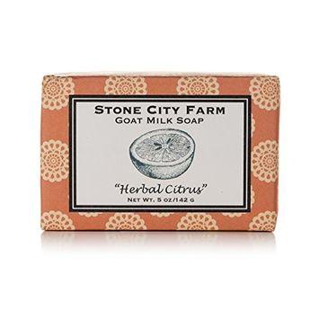 Herbal Citrus Goat Milk Soap - 100% Natural 5 oz. Bar