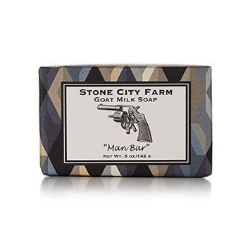 Man Bar Goat Milk Soap- 100% Natural 5 oz. Bar