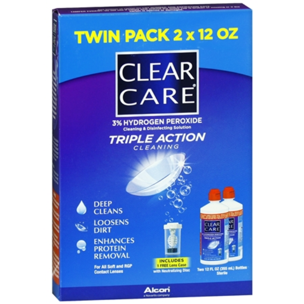 Clear Care Triple Action Cleaning 3% Hydrogen Peroxide Cleaning & Disinfecting Solution