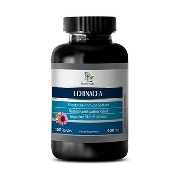 Natural anti anxiety - ECHINACEA - Echinacea angustifolia herb - 1 Bottle 100 Capsules