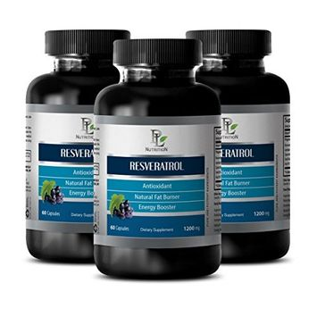 Prostate health - RESVERATROL - Grape seed extract - 3 Bottles 180 Capsules