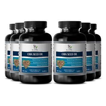 Memory pills for men - CHIA SEED OIL - Energy enhancer pills - 6 Bottle 360 Softgels