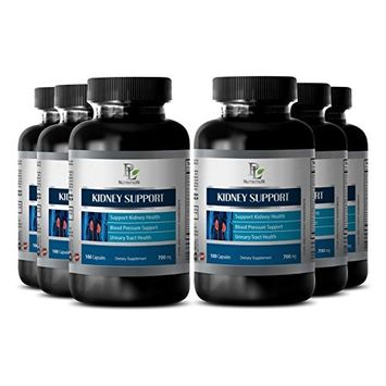 Prostate Health Supplements - Kidney Support Complex - Prostate Supplements - 6 Bottles 360 Capsules