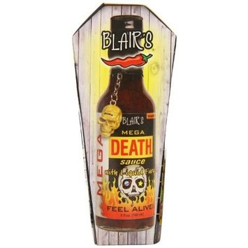 Blair's Mega Death Hot Sauce with Liquid Fury and Skull Key Chain, 5 Ounce [Standard Packaging]