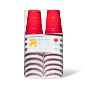 Up & Up Disposable Red Plastic Cups - 18oz - 72ct - Up&Up
