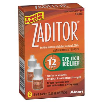 Zaditor Antihistamine Eye Drops for Eye Itch Relief - 2 Count
