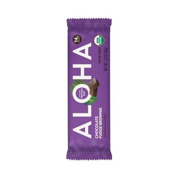 Aloha Bars Aloha (Bars) Organic Protein Bar; Chocolate Fudge Brownie - - 2.2 oz) (Pack of 12)