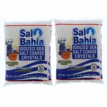 2 Pk. Sal Bahia Iodized Sea Salt Coarse Crystals 2 Pounds (4 Pounds Total)