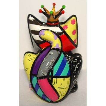 Limited Edition Romero Britto Cat Figurine Royalty Cat