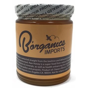 B'organics 100% Pure Raw and Unfiltered Honey, Unpasteurized, All Natural Sweetener For Tea With Vitamin C, Increases Energy-Boost Immunity, Honey For Skin Care