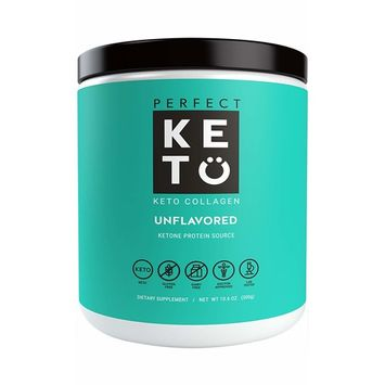 Perfect Keto Protein Powder Unflavored: Grassfed Collagen Peptides Low Carb Keto Drink Supplement With MCT Oil Powder - Best as Keto Drink Creamer or added to Ketogenic Diet Snacks Paleo & Gluten Free [Unflavored]
