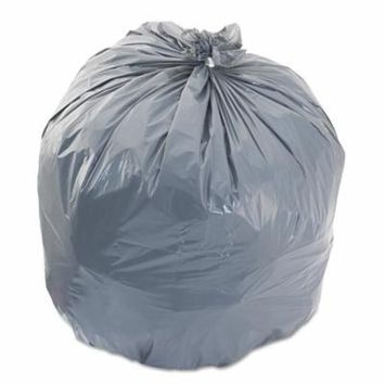 Boardwalk LD Trash Bags, 40-45gal, .95mil, 40w x 46h, Gray, 25 Bags/Roll, 4 Rolls/CT