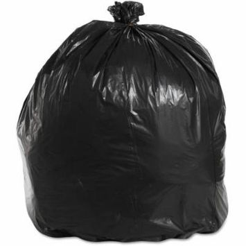 Boardwalk 40-45 Gallon Super Extra-Heavy Grade Trash Bags, Black, 25 count, (Pack of 4)