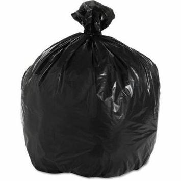 Boardwalk 33 Gallon Super Extra-Heavy Grade Trash Bags, Black, 25 count, (Pack of 4)