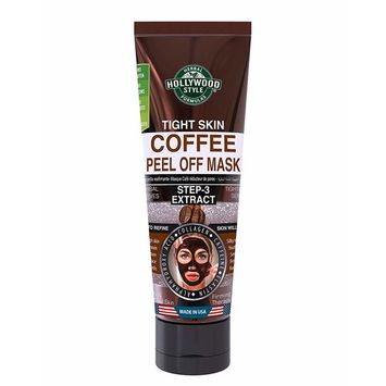 Hollywood Style Tight Skin Exfoliating Coffee Peel Off Mask Firmer, Softer, and Silkier Skin Removes Dead Skin Cells, 3.2 fl.oz. [Tight Skin Coffee Peel Off Mask]