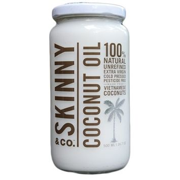 Skinny and Co. 100% Raw Virgin Skinny Coconut Oil for Skin and Hair (16 fl oz.)