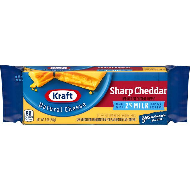 Kraft Sharp Natural Cheddar 2% Milk Cheese Block