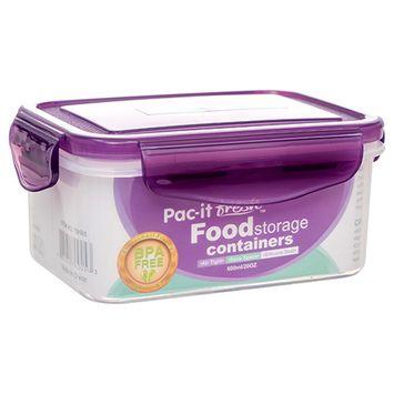 379025 Plastic Container Rectangle 600Ml / 20Oz (48-Pack) Storage Cheap Wholesale Discount Bulk Plasticware Storage Square